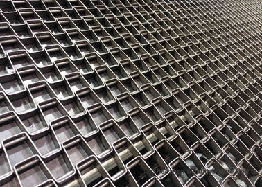 China Welded Edges Honeycomb Belt Conveyor For Packing , Customizable High Temperature Belt supplier