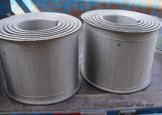 Stainless Steel Furnace Conveyor Belt Compound Weave For Tunnel Custom Design