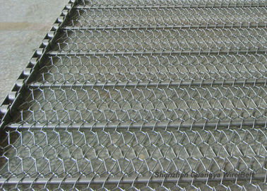 China Electric Furnace Ss Metal Mesh Belt  Anti Friction Custom Design Energy Saving supplier