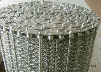 China SUS304 Spiral Woven Stainless Steel Wire Belt Argon Welding ISO9001 For Baking supplier