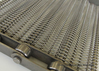Chain Edge Stainless Steel Wire Conveyor Belt , SS Belt Conveyors Custom Made