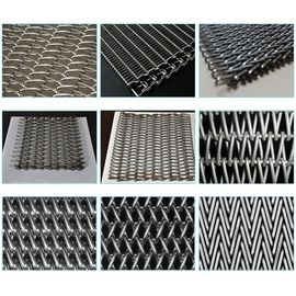 China Custom Chain Link Conveyor Belt , Furnace Use Metal Mesh Conveyor Belt supplier