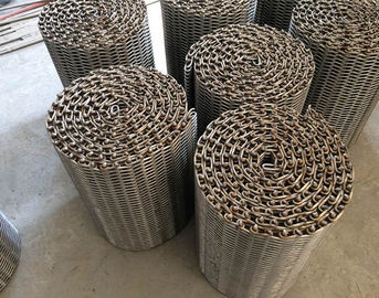 China Heat Resistant Wire Mesh Belt Flexible Knuckled Selvedge For Food Processing supplier