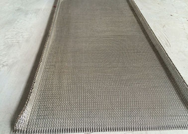 China Woven Flat Stainless Steel Wire Belt Chain Edge High Precision Strong Tension supplier