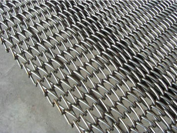 China Honeycomb Metal 4mm Wire Mesh Belt Fire Retardant Stainless Steel 304 Custom supplier