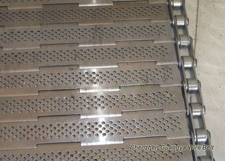 China Precise Plate Chain Conveyor Belt Durable Knuckled Selvedge 10.0mm Thick supplier