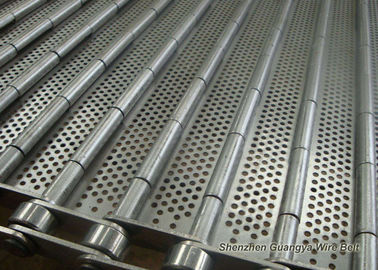 China Stainless Steel Perforated Conveyor Belt For Ultrasonic Cleaning Line 125mm Pitches supplier