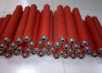 China Rubber Coating Active High Speed Conveyor Rollers For Production Line Machine supplier