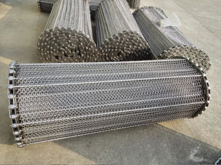 China Stainless Steel Wire Conveyor Belts Acid Proof For Meat / Tortilla Processing supplier