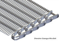 China Stainless Steel 316 Wire Mesh Belt Spiral Wire Conveyor U-Style Chain Drive factory