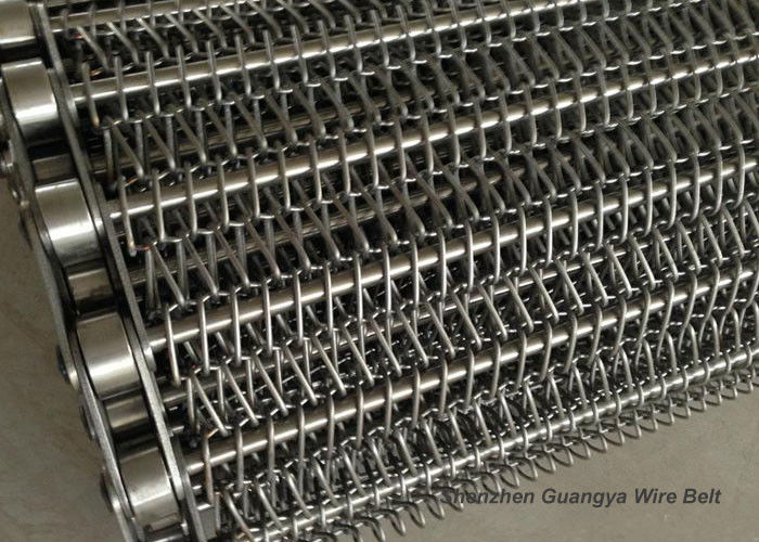 Stainless Steel Chain Mesh Conveyor Belt Lifting G80 Argon