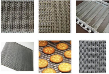 China Non Pollution Eye Link Chain Conveyor Belt Wire Mesh 8mm For Snack Foods distributor