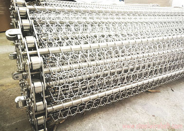 China High Precision Chain Link Conveyor Belt , Metal Mesh Conveyor Belt Long Service Life distributor