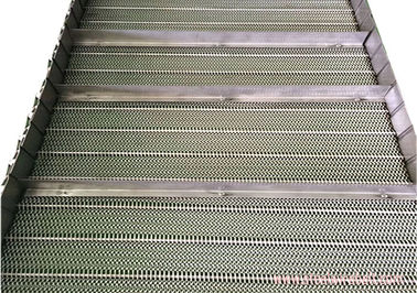 China Baffle Mesh Stainless Steel Conveyor Chain Belt High Allowable Belt Tension distributor