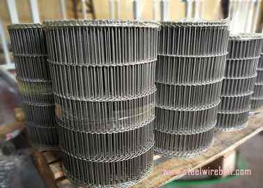 China Flat Flex Wire Mesh Belt , Stainless Steel Flat Wire Conveyor Belt Alkali Resisting distributor