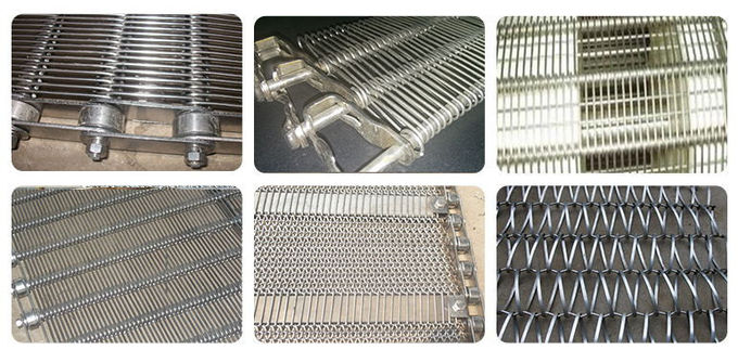 Non Pollution Eye Link Chain Conveyor Belt Wire Mesh 8mm For Snack Foods