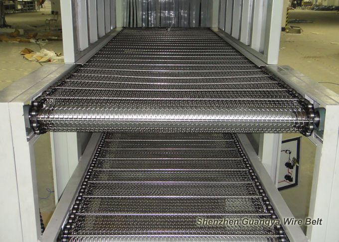 Custom Chain Link Conveyor Belt , Furnace Use Metal Mesh Conveyor Belt