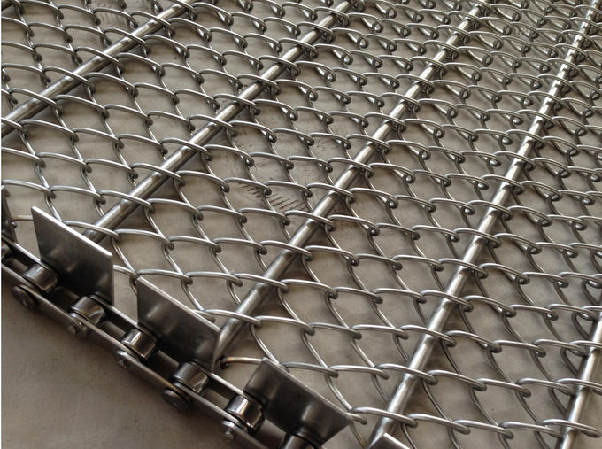 Electric Furnace Ss Metal Mesh Belt  Anti Friction Custom Design Energy Saving