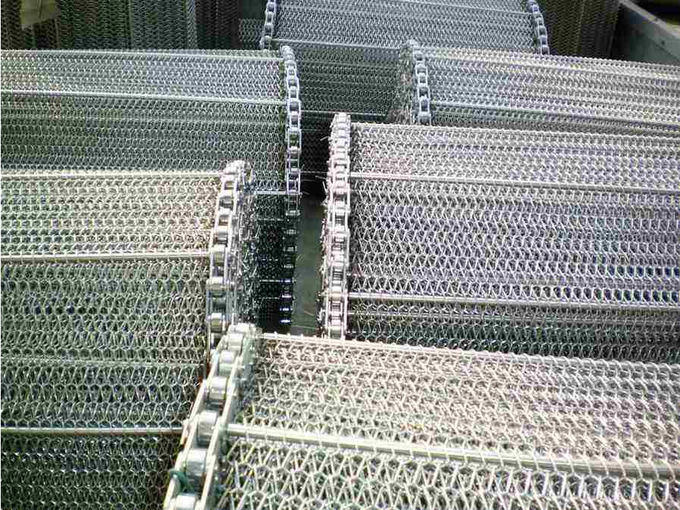 Professional High Temperature Conveyor Belt SS Chain Linked Plate Design