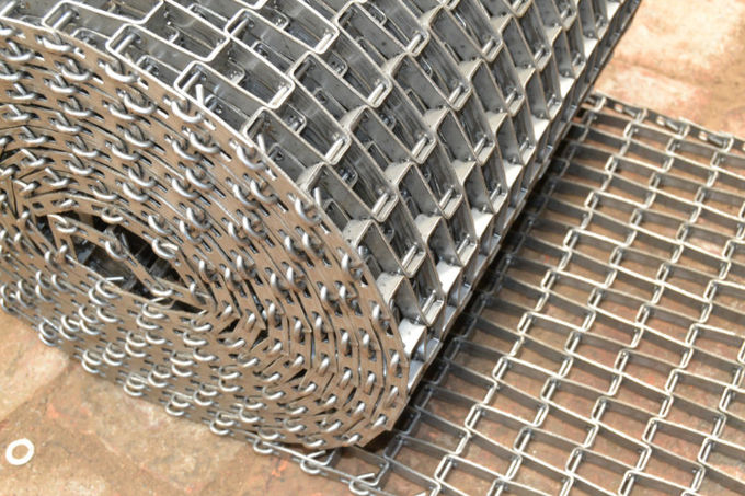Metal Wire Mesh Heated Conveyor Belt  , Transportion High Temperature Conveyor