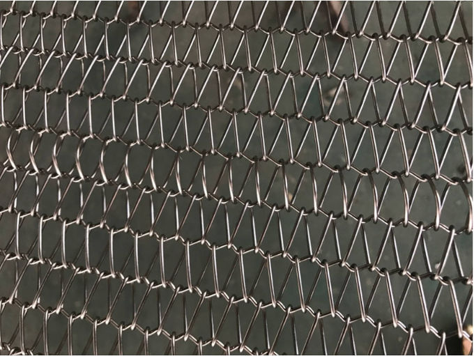 High Load Bearing Honeycomb Conveyor Belt ,  Food Processing Metal Mesh Conveyor Belt