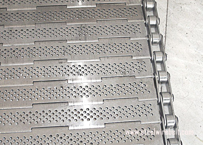 Precise Plate Chain Link Conveyor Belt Durable Knuckled Selvedge Metal Chain Plate